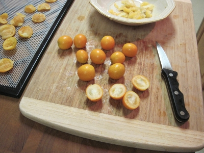 wash kumquats and trim ends if necessary