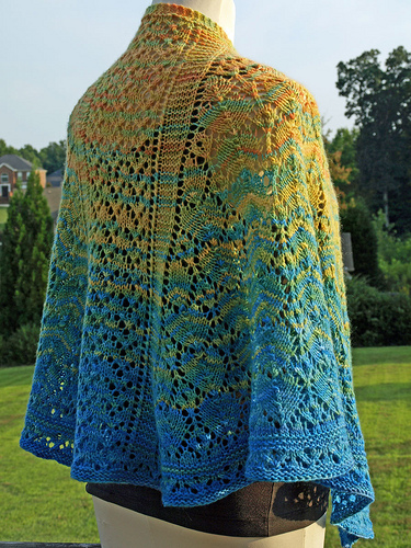 back view of Wool Therapy knitted by Kelly Eells