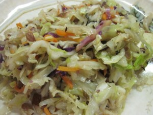Stir-Fried Green Cabbage with Fennel Seeds