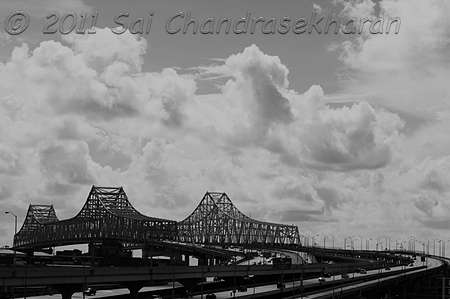 Mississippi River Bridge - 2 by Sai Chandrasekharan