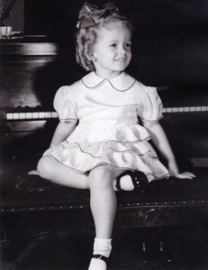 This is NOT the way to play a piano (Jackie at 4 years old)