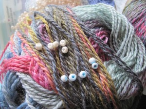 Testing beads against yarn