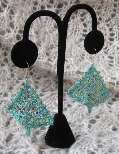 Bitty Christmas Tree Earrings
