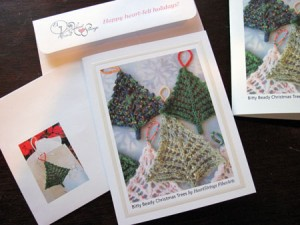 Bitty Beady Christmas Tree holiday greeting cards