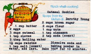 Dorothy's oatmeal cookies recipe