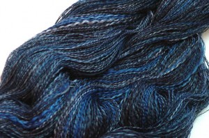 moody blues is handspun cotton plied with silk