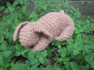 Chocolate Knitted Bunny