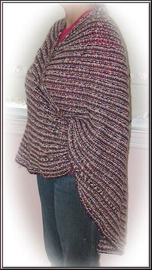 Side view of Joy's shawl
