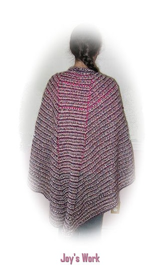 The back of the Joy's shawl