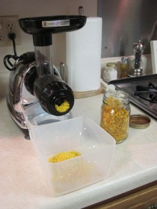 Using the Omega Juicer for grinding corn