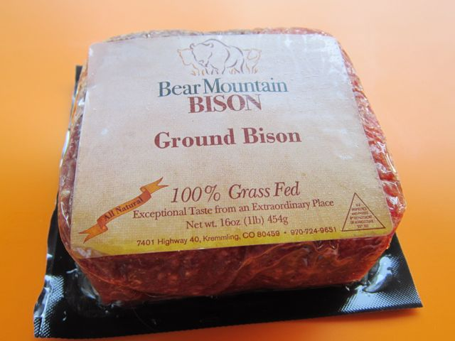 ground bison 100% grass fed