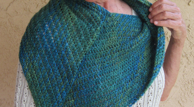 Bearfoot Over the Shoulder Shawl KAL