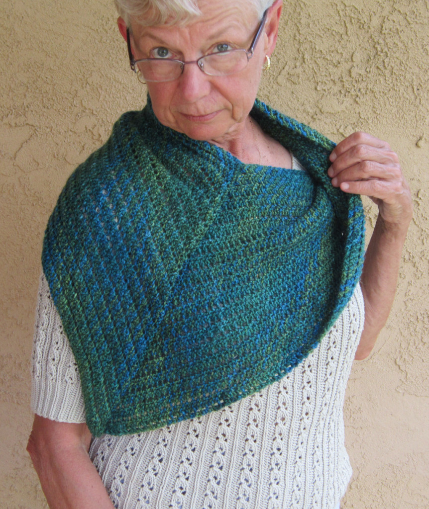 Bearfoot Over Your Shoulders Shawl
