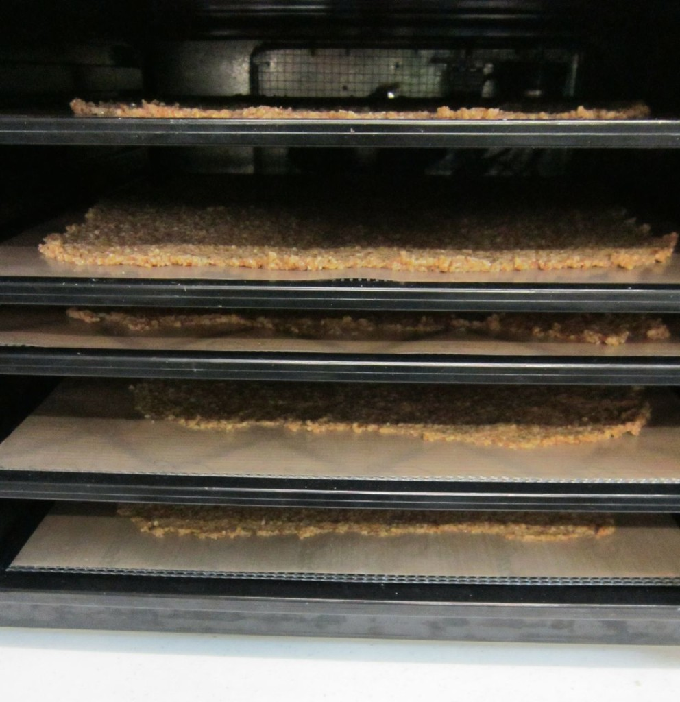5 trays of cereal flake sheets in my 9-tray Excalibur dehydrator